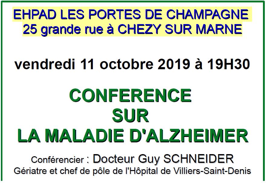 Conférence aux Portes de Champagne à Chézy sur Marne