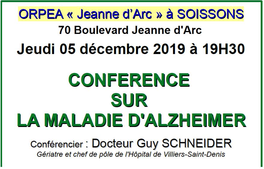 Conférence ORPEA J.D'ARC à SOISSONS