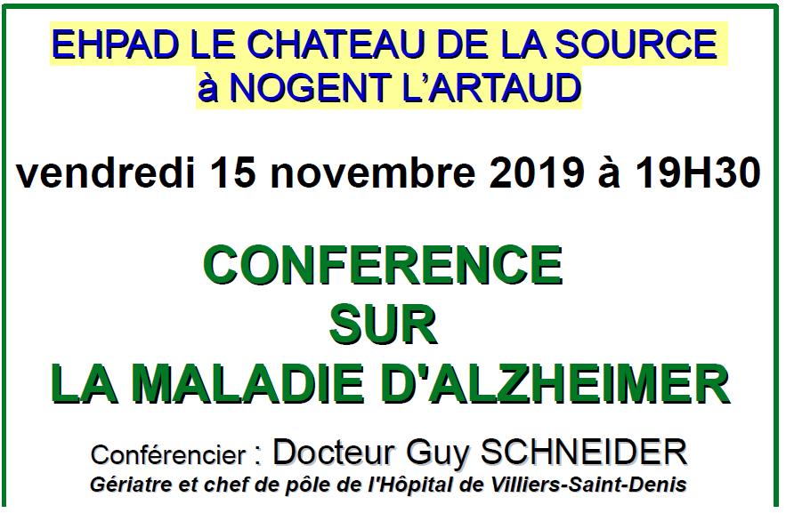 Conférence au Château de la Source Domusvi à Nogent l'Artaud