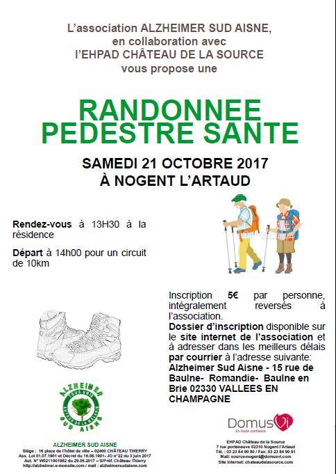 Affiche randonnee pedestre sante 21 10 17